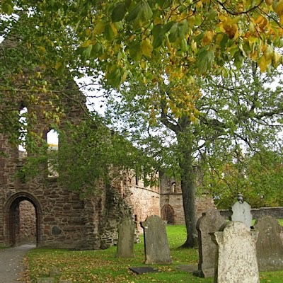 Beauly Priory where may Clan Lovat Chisholm and Mackenzie graves can be seen