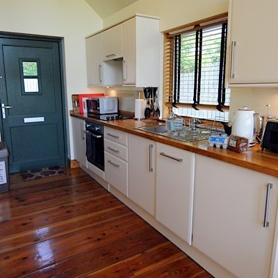 well appointed kitchen offers a home away from home